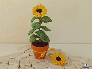 Sonnenblume Im Topf : h kelanleitung sonnenblume miniblume im topf ~ Orissabook.com Haus und Dekorationen