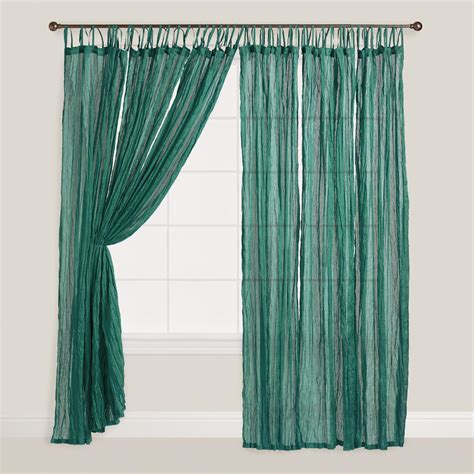 green crinkle voile curtain world market