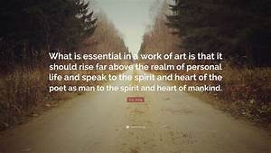 C G  Jung Quote   U201cwhat Is Essential In A Work Of Art Is