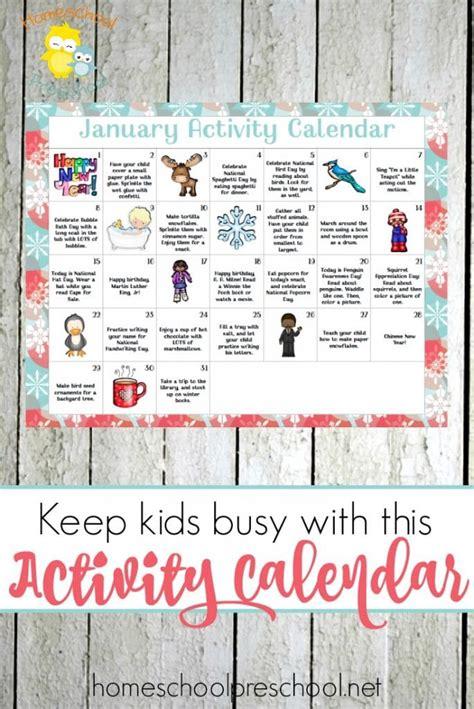 free january preschool activity calendar free homeschool 219 | 1aff 112 684x1024