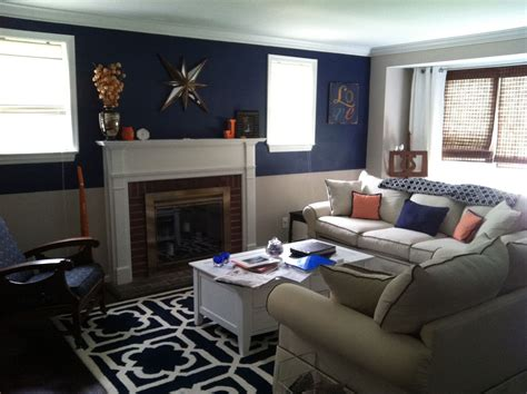 Navy Living Room by Orange And Navy Living Room For The Home Living Room