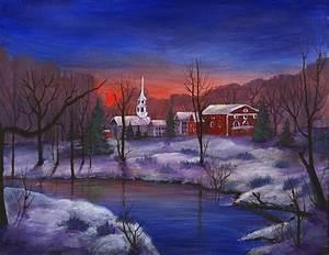 Stowe - Vermont Painting by Anastasiya Malakhova