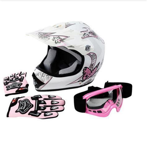 pink motocross helmet dot youth pink butterfly dirt bike atv helmet