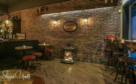 bistro bar stools jamieson 39 s pub renovation staged for upsell