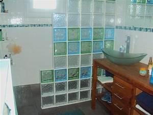 brique verre douche italienne des idees novatrices sur With douche italienne carreau de verre