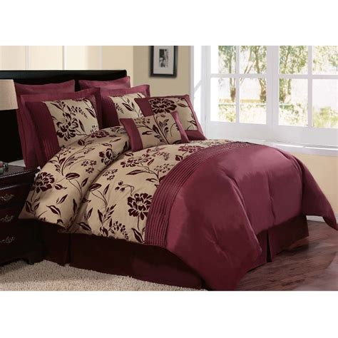 burgundy bedding sets royal calico burgundy 7pc