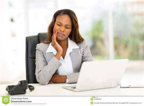 African Businesswoman Toothache