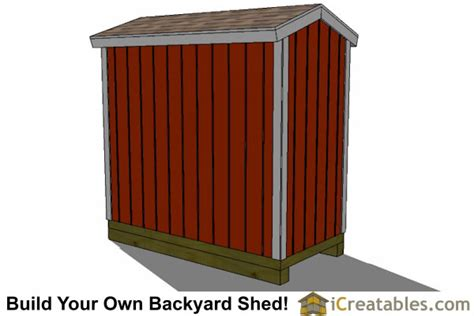 4x8 Storage Shed Plans by 4x8 Backyard Shed Plans Icreatables