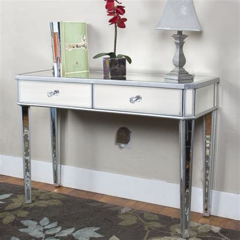 desk with drawers and mirror best choice products mirrored console table vanity desk