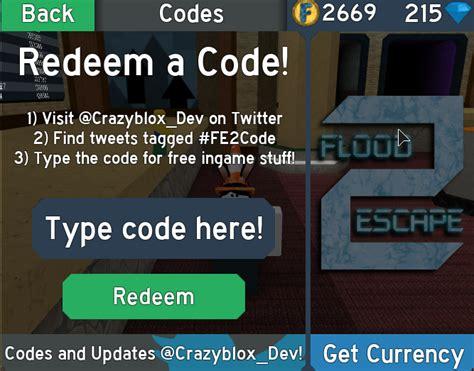 codes flood escape  wiki fandom