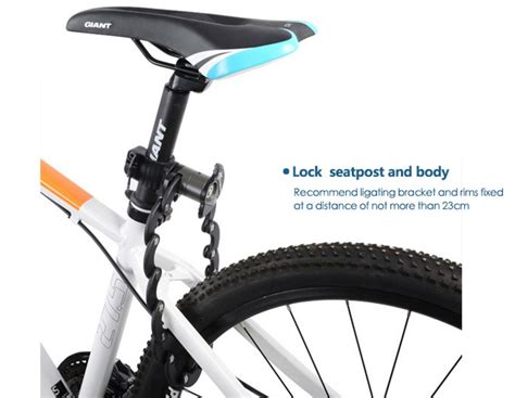 lock bike seat bicycle lightweight secure saddle scooter commuter frame fixed electric mount way simultaneously solidly allows something