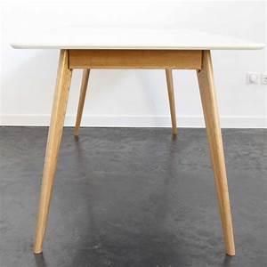Table Salle A Manger Blanche Et Bois : table manger design scandinave drawer ~ Teatrodelosmanantiales.com Idées de Décoration