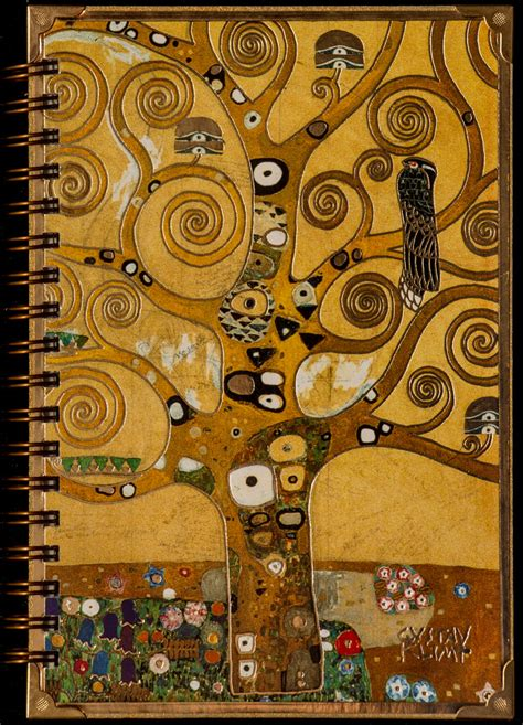 carnet stylo  crayon de gustav klimt arbre de vie
