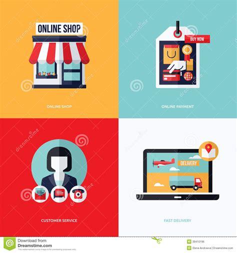 flat vector design   commerce   shopping