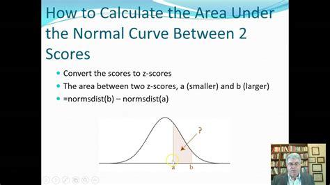 calculate  area   normal curve