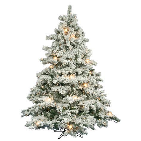 6 5 foot flocked alaskan christmas tree mini g50 lights