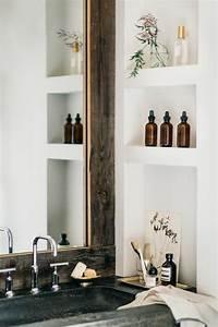 Miroir Étagère Salle De Bain : 1001 id es comment d corer vos int rieurs avec une niche murale ~ Melissatoandfro.com Idées de Décoration