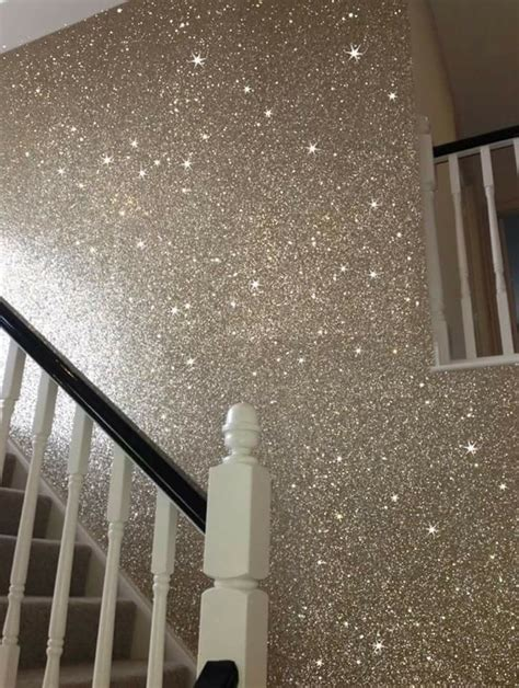 Wand Silber Streichen by Glitter Wall Paint For The Home In 2019 Glitter Paint