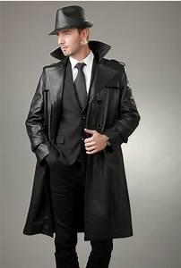 Trench Coat Homme Long : guide ultime des vestes et blousons en cuir pour homme ~ Nature-et-papiers.com Idées de Décoration