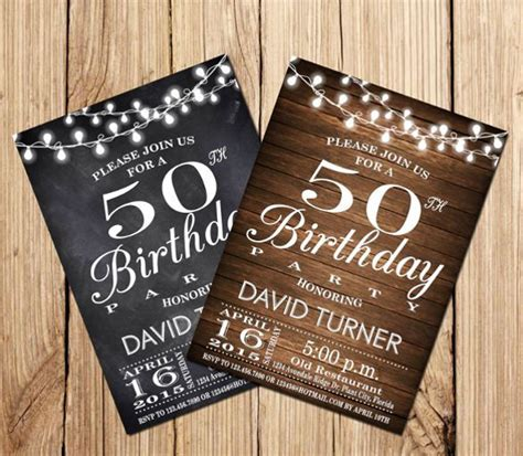 50th year men birthday cards 60th birthday invitations