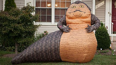 star wars homemade lawn your neighbors will this jabba the hutt lawn ornament