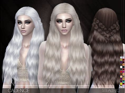 stealthic cadence hairstyle sims  cc hair