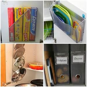 13 Brilliant Kitchen Cabinet Organization Ideas - Glue