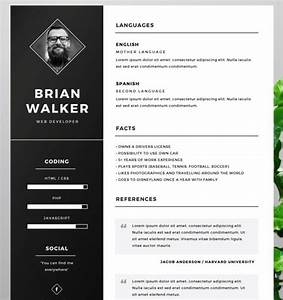 130 new fashion resume cv templates for free download With cv template photoshop