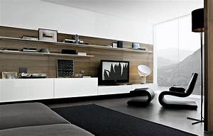 Furniture Fireplace Designs With Tv Above Black Lounge