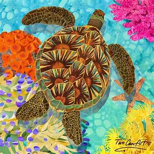 sea turtle painting home design inspirations With best brand of paint for kitchen cabinets with turtle shell wall art
