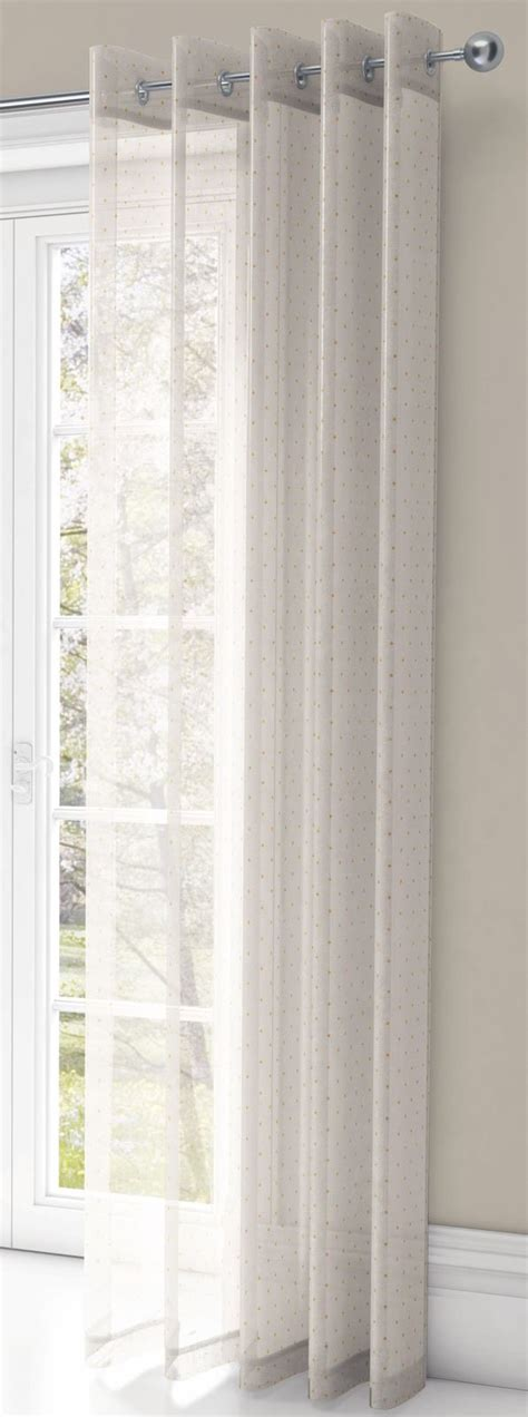 chicago drapery chicago eyelet voile curtains sparkle metallic ring top