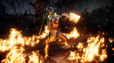 scorpion arount fire hd mortal kombat  wallpapers hd