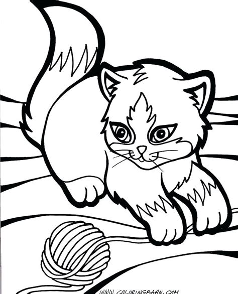 Kitten Coloring Pages Free download on ClipArtMag