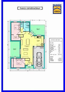 Plan Maison 6 Chambres : charmant plan maison plein pied 4 chambres 6 constructeurvendee 187 plans de maisons digpres ~ Voncanada.com Idées de Décoration
