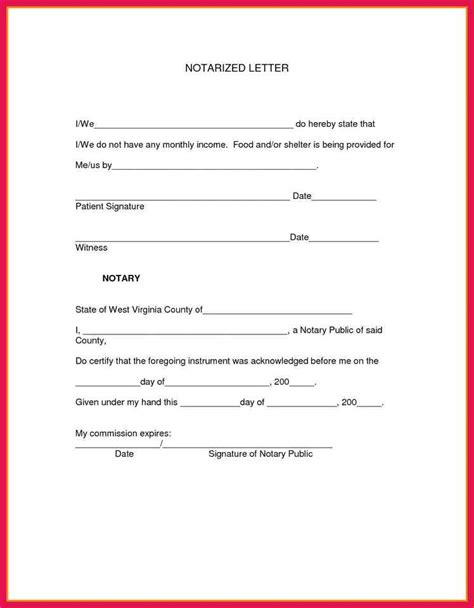 sample notary letter template sop examples