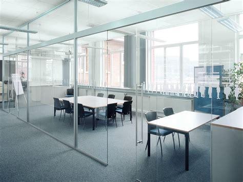 separation de bureau en verre cloison amovible de bureau coulissante en verre h130 by