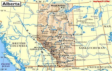 canada provincial map  alberta
