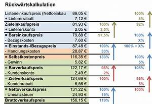 Mehrwertsteuer Berechnen Excel : prozent gewinn berechnen ~ Themetempest.com Abrechnung