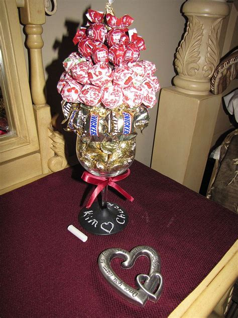 hometalk wine glass turned chalk board paint candy bouquet