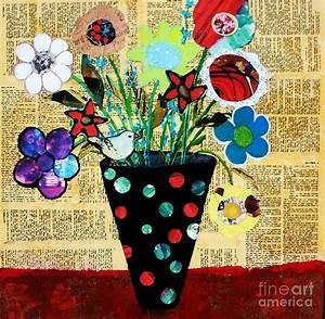 Funky Flowers Painting by Melinda Etzold