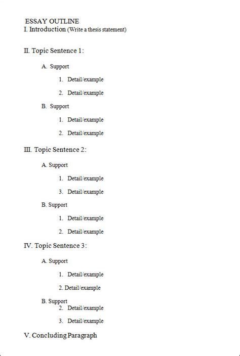 Outline Template 18 Useful Outline Templates Pdf Word Apple Pages