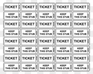 great  ticket template  large raffle ticket great