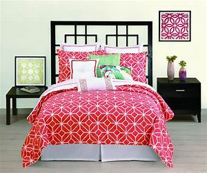 Coral, Colored, Comforter, And, Bedding, Sets