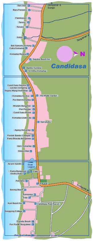 candidasa map bali map