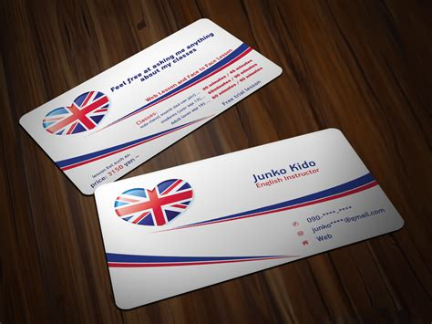 English Teacher Business Card (2) Business Card Design Templates Free Corel Draw Hand Cutter Brighton Case Novelty Cute Visiting Online Editing India Francesca's Printing Cheap