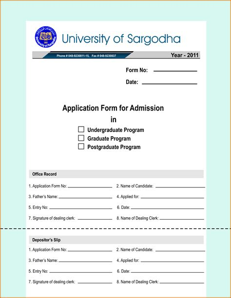 Admission Form Format Pdf by Admission Form Format Pdf Business Proposal Templated