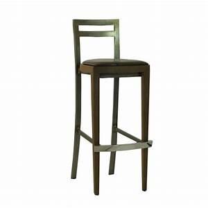 Chaise Haute Industrielle : chaise haute de bar industrielle en bois acier cbc 9574 one mobilier ~ Teatrodelosmanantiales.com Idées de Décoration