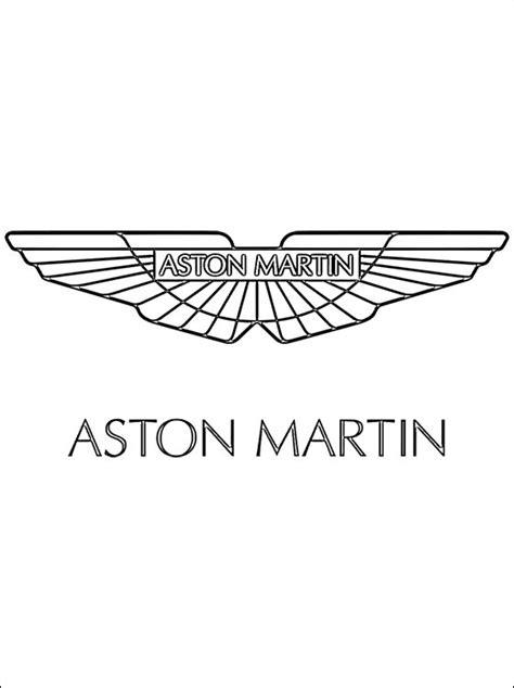 dibujo de logo aston martin  colorear dibujos