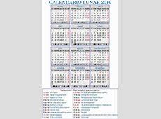 Calendario Lunar 2016 Terapias Vigo