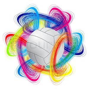 Colorful Volleyball Ball